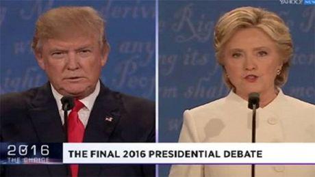 Cuoc tranh luan cuoi cung giua ong Trump va ba Clinton cang thang ngay tu nhung phut dau - Anh 1