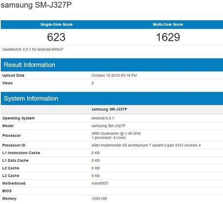 Galaxy J3 (2017) lo dien voi Snapdragon 430, 2GB RAM - Anh 2