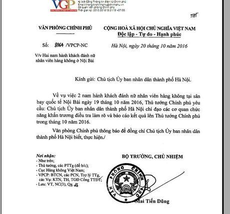 Thu tuong yeu cau dieu tra lam ro vu nu nhan vien hang khong bi hai hanh khach danh - Anh 1