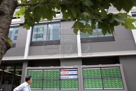 Chi so Nikkei 225 cham muc 'dinh' cua sau thang - Anh 1