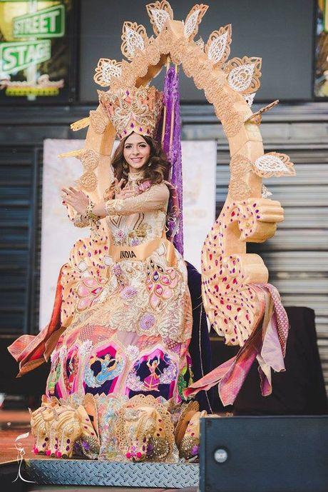 Nguyen Thi Loan xuat sac lot Top 3 trang phuc dan toc dep nhat Miss Grand International 2016 - Anh 11