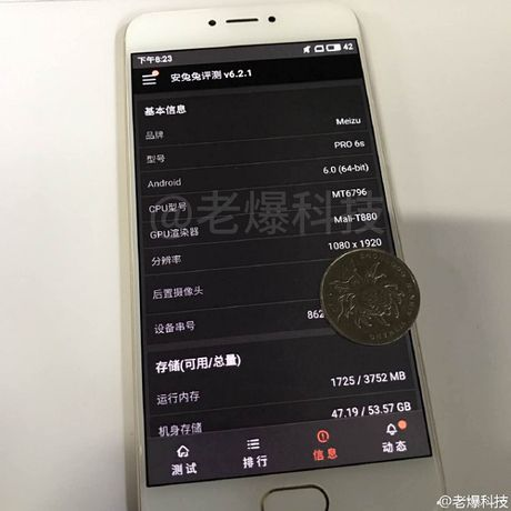 Lo dien hinh anh Meizu Pro 6s, cau hinh chip 10 loi - Anh 2