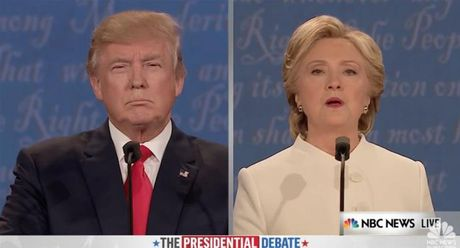 Tranh luan truc tiep: Donald Trump va Hillary Clinton mang nhau la con roi - Anh 1