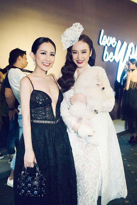 Hoa hau My Linh lam vedette trong show thoi trang cua Chung Thanh Phong - Anh 18