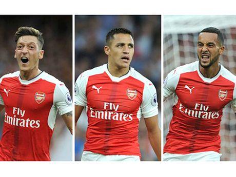 Voi 'tam tau' Sanchez - Oezil - Walcott, Arsenal luc nay that dang so - Anh 3