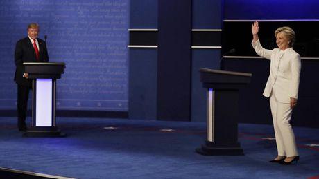 Hinh anh tran quyet dau cuoi cung cua ba Clinton va ong Trump - Anh 1