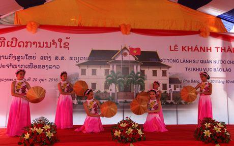 Khanh thanh tru so Tong Lanh su quan Viet Nam tai Bac Lao - Anh 4
