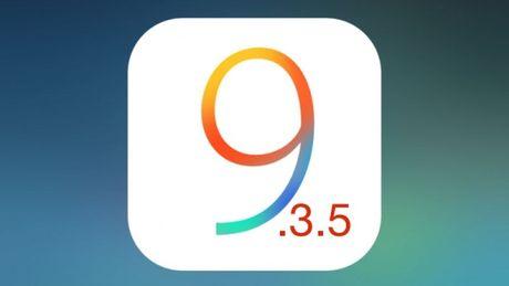 Apple cham dut viec cho ha cap ve iOS 9.3.5 - Anh 1