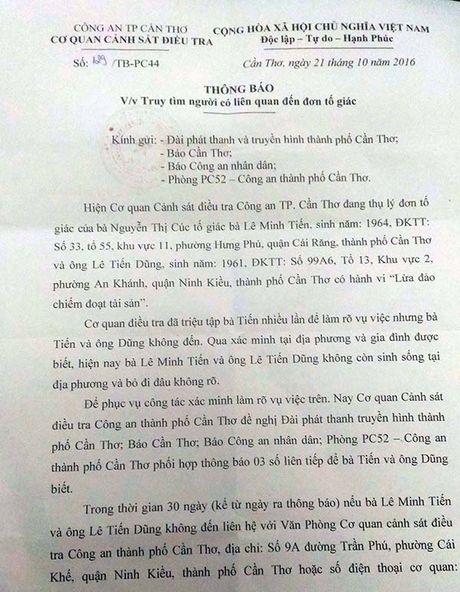 Truy tim 2 doi tuong co dau hieu lua dao tien ti - Anh 1