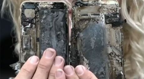 iPhone 7 lai chay, thieu rui xe hoi - Anh 1