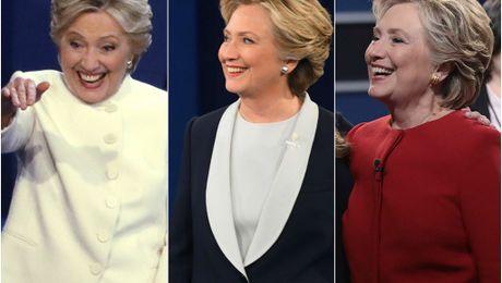 Y nghia dang sau trang phuc cua ba Clinton trong buoi tranh luan cuoi cung - Anh 1