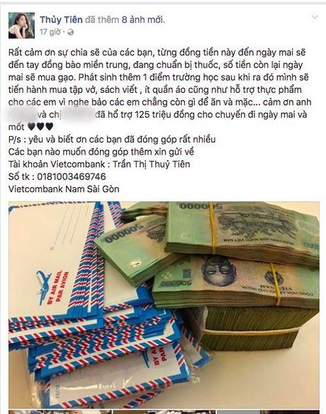 Khong dung ngoai cuoc, Thuy Tien da san sang den voi ba con mien Trung - Anh 1