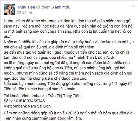 Khong dung ngoai cuoc, Thuy Tien da san sang den voi ba con mien Trung - Anh 4