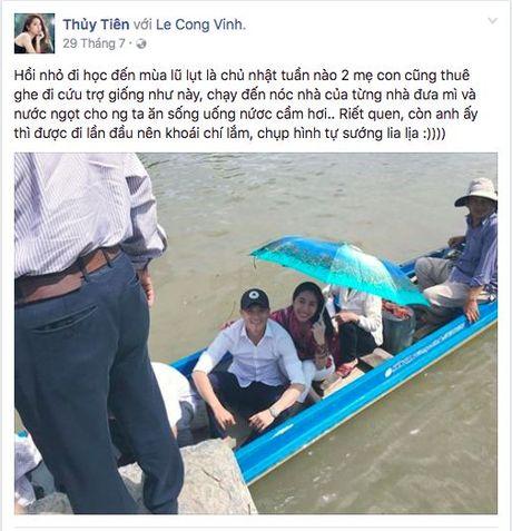 Khong dung ngoai cuoc, Thuy Tien da san sang den voi ba con mien Trung - Anh 5