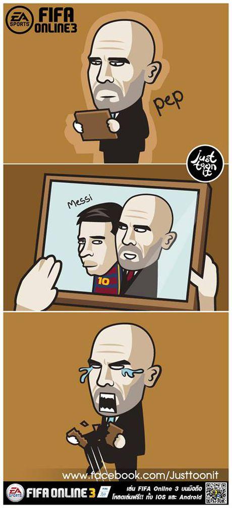 Pep khoc thet, da gay doi khung anh chup Messi - Anh 1
