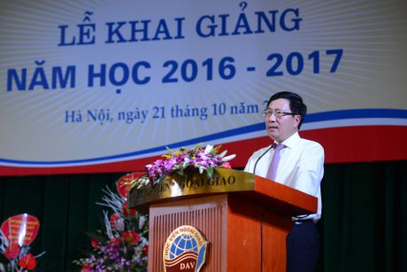 Pho thu tuong Pham Binh Minh du khai giang HV Ngoai giao - Anh 4