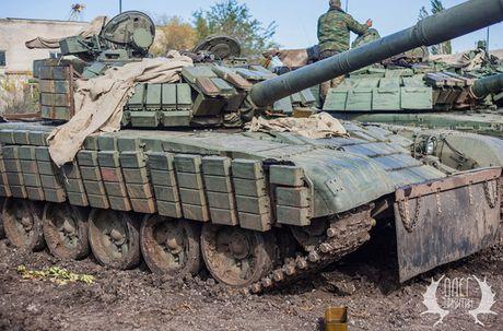 Bat ngo dan tang T-72B1 cua dan quan mien Dong Ukraine - Anh 2