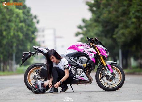 Bong hong Viet 'nai cung' Kawasaki Z800 Hello Kitty - Anh 1