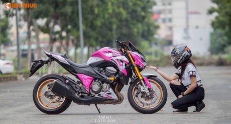 Bong hong Viet 'nai cung' Kawasaki Z800 Hello Kitty - Anh 3