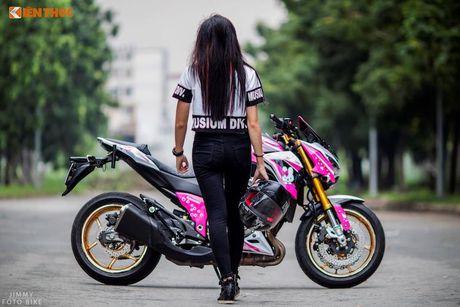 Bong hong Viet 'nai cung' Kawasaki Z800 Hello Kitty - Anh 4