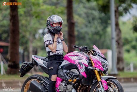 Bong hong Viet 'nai cung' Kawasaki Z800 Hello Kitty - Anh 5