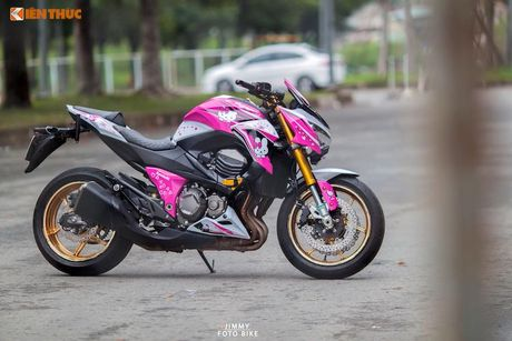 Bong hong Viet 'nai cung' Kawasaki Z800 Hello Kitty - Anh 6