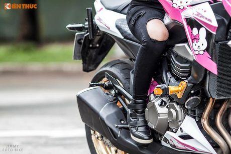 Bong hong Viet 'nai cung' Kawasaki Z800 Hello Kitty - Anh 7
