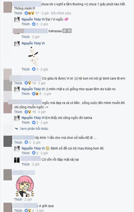 Bi che nao ngan, Thuy Vi cong khai kha nang kiem tien - Anh 2