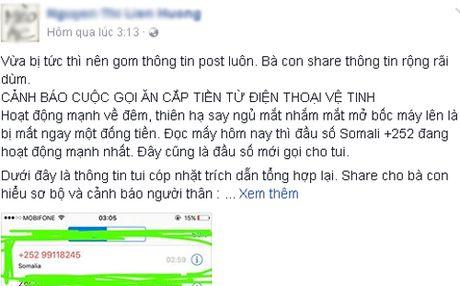Canh bao 'cuoc goi an cap tien tu dien thoai ve tinh' - Anh 1