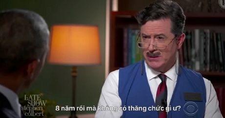 Clip vui Tong thong Obama tap phong van xin viec moi sau khi roi nha Trang - Anh 1