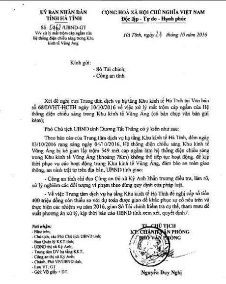 Khu kinh te Vung Ang bi cat trom hang tram met cap ngam cua he thong chieu sang - Anh 3