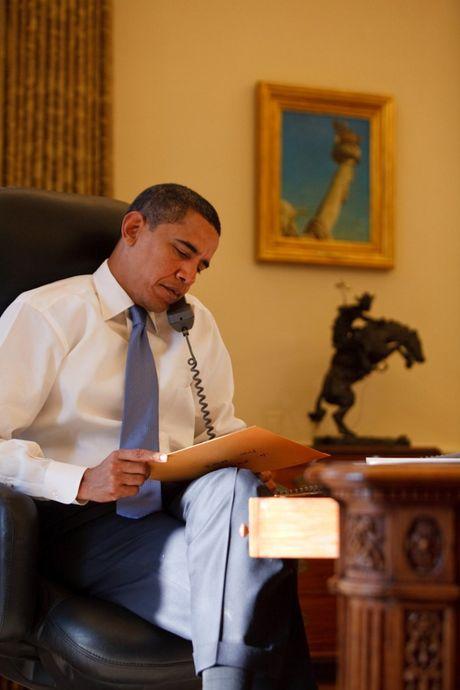 Nhung buc anh dep cua ong Obama khi lam tong thong - Anh 5