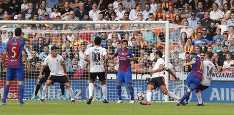 Lionel Messi ghi ban thang gay tranh cai o tran Valencia - Barca - Anh 3