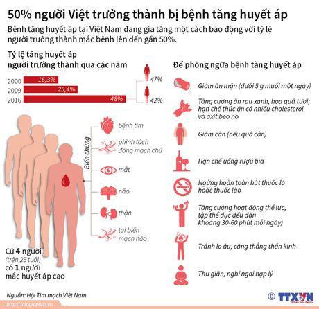 50% so nguoi Viet truong thanh bi benh tang huyet ap - Anh 1