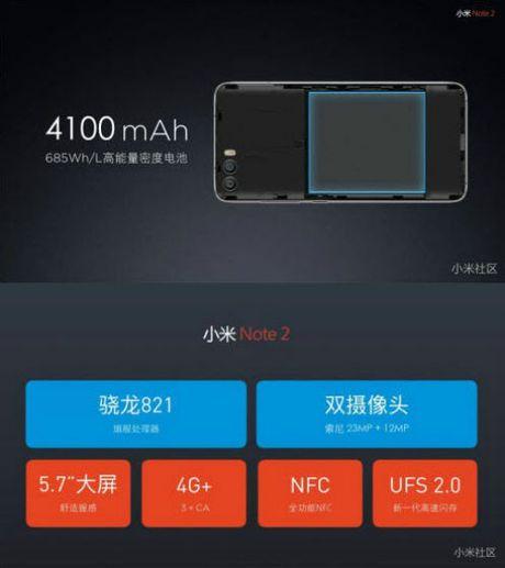 Tiep tuc ro ri cau hinh va gia ban Xiaomi Mi Note 2 - Anh 2