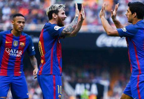 Suarez, Messi dich thi la 'ac mong' cua Valencia - Anh 1
