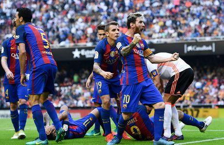Messi sut thanh cong phat den roi chay toi khieu khich CDV Valencia - Anh 14