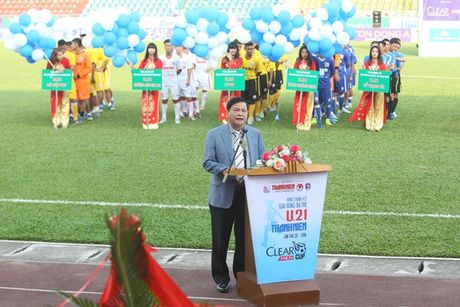 Khai mac vong chung ket U.21 Bao Thanh Nien: Ron vang Cam Pha - Anh 1