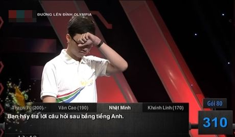 'Cau be Google' Nhat Minh dat 400 diem ky luc Olympia 17 - Anh 2