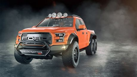 """Chiem nguong """"khung long"""" Hennessey VelociRaptor 6x6 - Anh 1"""