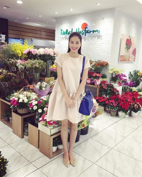 Pham Huong dien vay cong chua 'an dut' Thanh Hang, Ha Tang - Anh 1