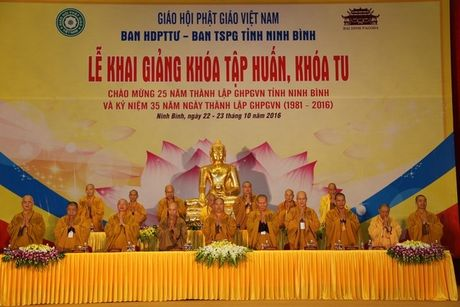 Ninh Binh: Khai giang khoa tap huan, khoa tu cho tren 5.000 phat tu tai chua Bai Dinh - Anh 1