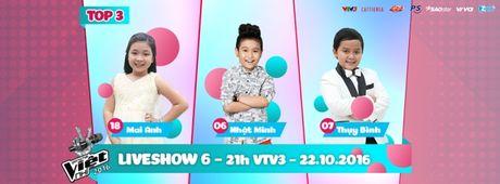 Liveshow 6 Giong hat Viet nhi 2016: Thuy Binh gay nao loan truong quay, Noo Phuoc Thinh bat khoc - Anh 1