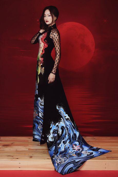 Lan Phuong ma mi trong ao dai chu de Halloween - Anh 6