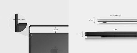 Lift & Go: vo bao ve + quai xach + de nang cho MacBook Pro - Anh 1