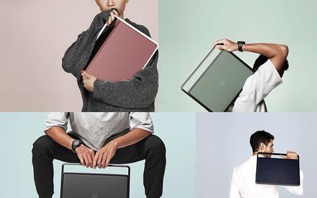 Lift & Go: vo bao ve + quai xach + de nang cho MacBook Pro - Anh 7