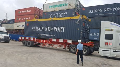 Lan dau tien DBSCL don tau container co lon - Anh 1