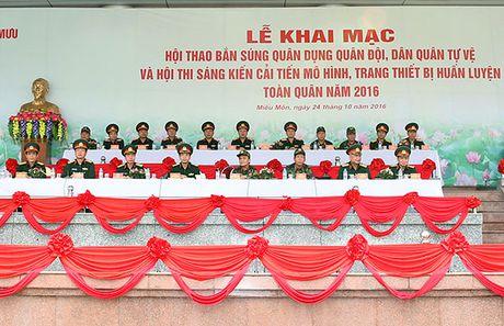 Hinh anh khai mac Hoi thao ban sung quan dung toan quan 2016 - Anh 1