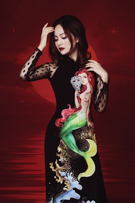 Lan Phuong dep 'am anh' trong bo anh ao dai Halloween - Anh 8
