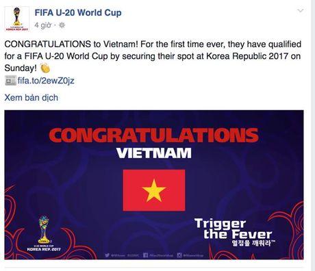 U.19 VN chien thang ky tich du U.20 World Cup, FIFA, AFC chuc mung - Anh 2